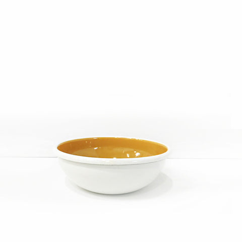 Enamel Soup/Salad Bowl, Orange