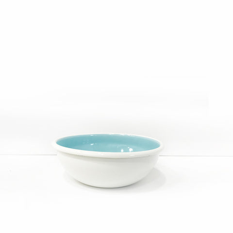 Enamel Soup/Salad Bowl, Light Blue