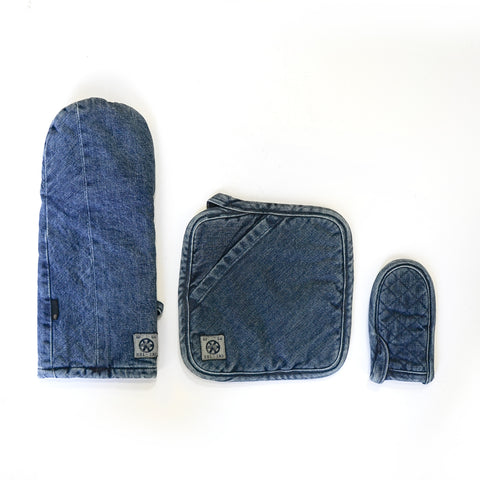 Medium Denim Pot Holder Collection