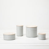 Enamel Storage Canisters