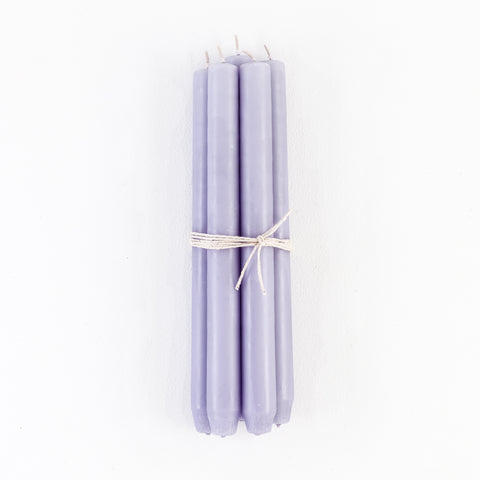 Lilac Taper Candles, Bundle of 4