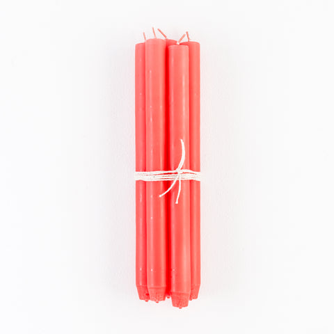 Dark Pink Taper Candles, Bundle of 4