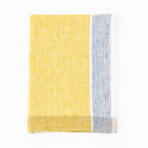 Sirene Blue and Yellow Tea Towel