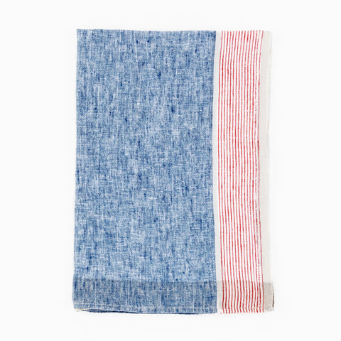 Sirene Blue and Red Tea Towel