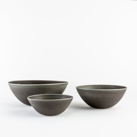 Graphite Flared Bowls