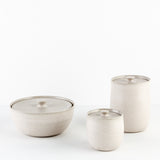 Medium Pearl Grey Canister
