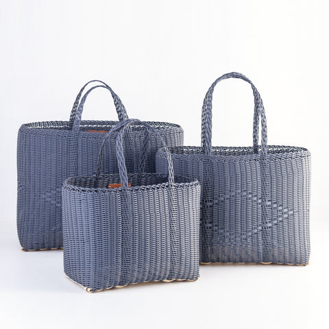 Recycled Plastic Tote, Carbon