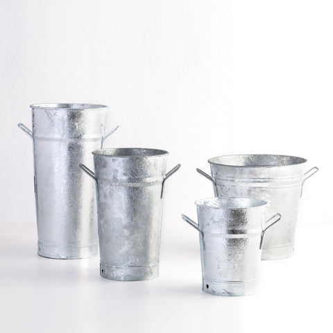 Galvanized Floral Bucket