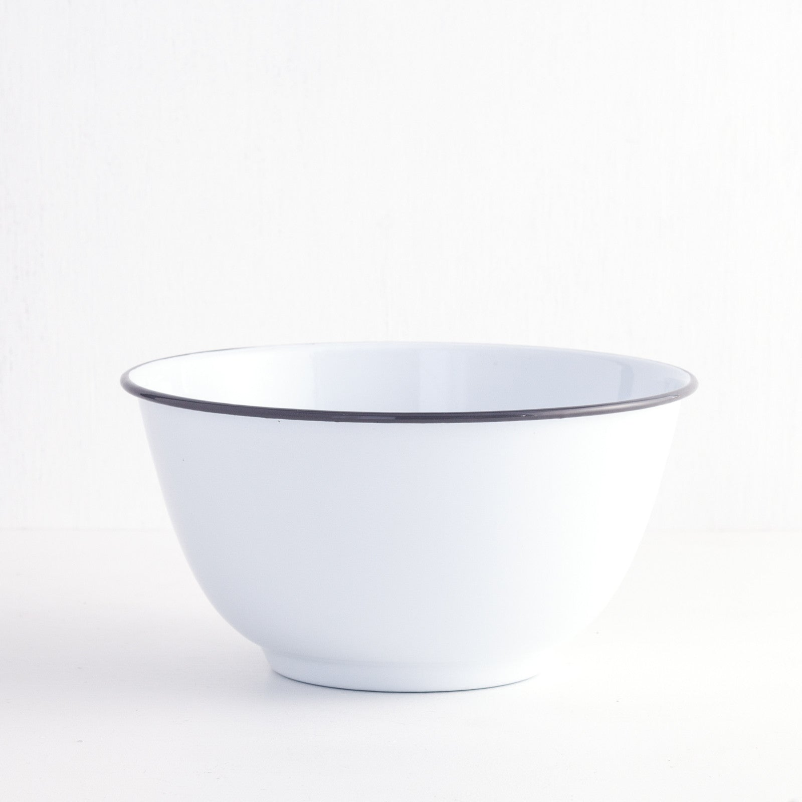 Enamel Salad Bowl, Grey
