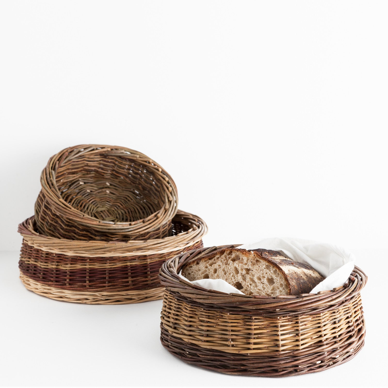 Willow Bread and Fruit Baskets