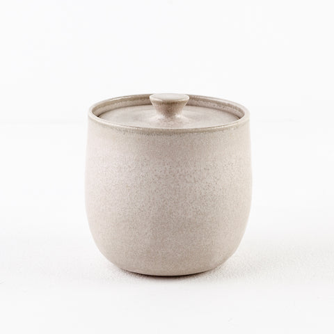 Melted Pearl Grey Covered Sugar Bowl