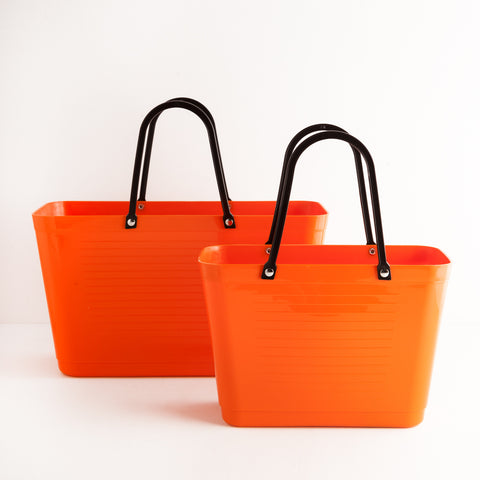 Orange Plastic Market Totes