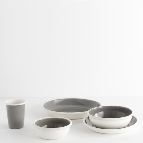 Bloom Enamel Dinnerware, Grey