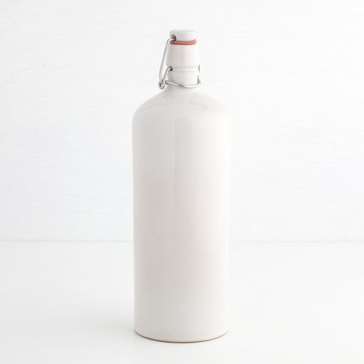 Oil Jug with Swing Top, White