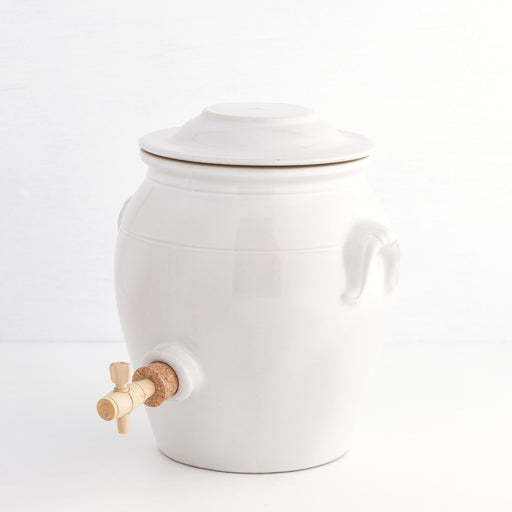 Vinegar Crock, White