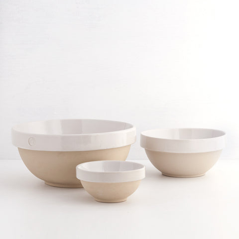Nesting Bowls (Set of 3), White
