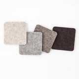 Gradient Felt Coasters, Natural Mix
