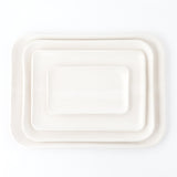 Stoneware Stacking Trays, White