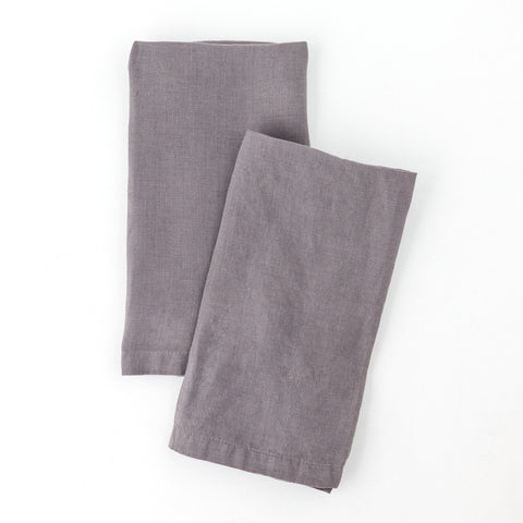 Washed Linen Napkin, Plum Kitten