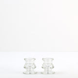 Glass Candlestick Holder