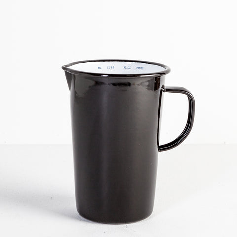 Black Falcon Enamel Jug, 2 Pint
