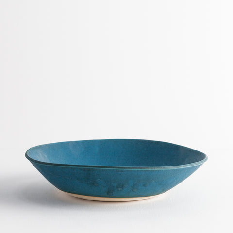 Simple Stoneware Bowl, Dark Turquoise