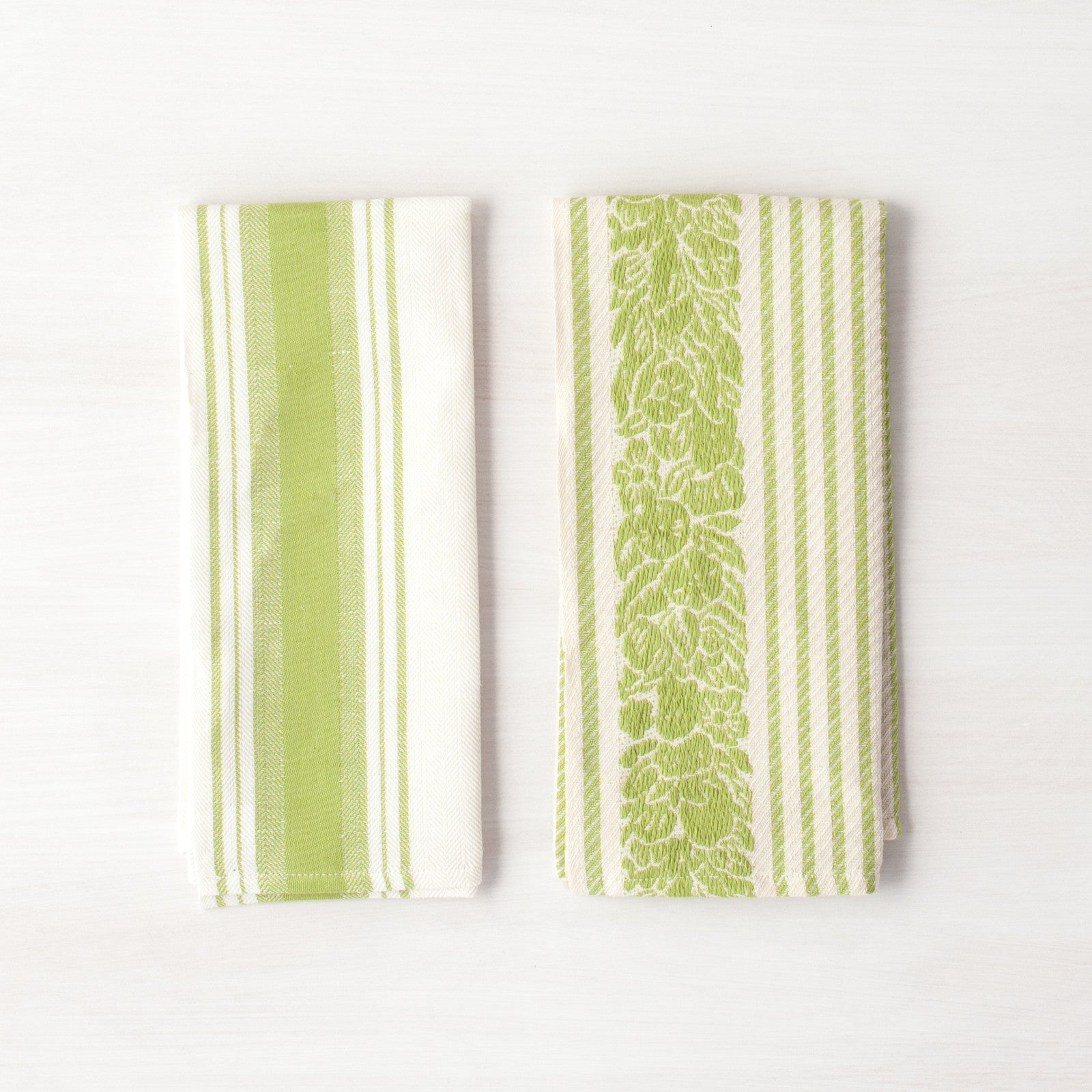 Rustic Kitchen Towels Green