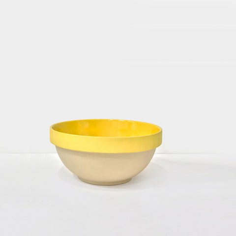 Small Yellow Glazed Stoneware Bowl