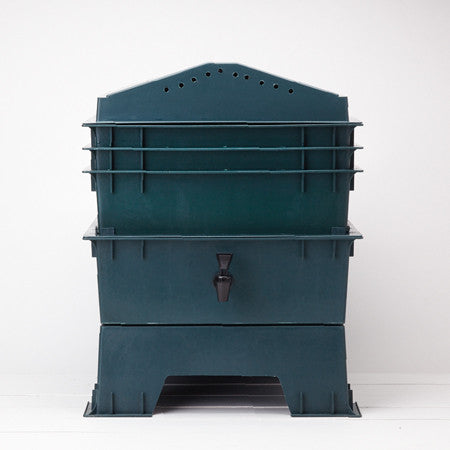 Stackable Worm Composter, Dark Green