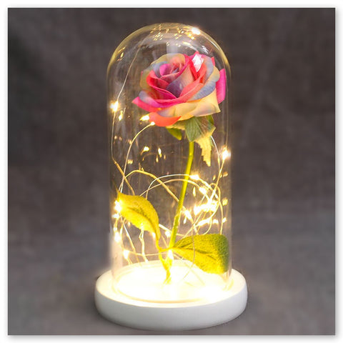 Rose Artificielle sous Cloche