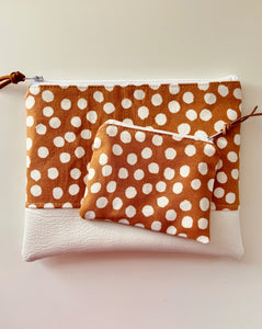 Mustard Dotty Mini Purse