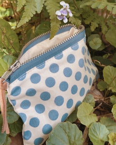 Bluebell Dots Mini Purse