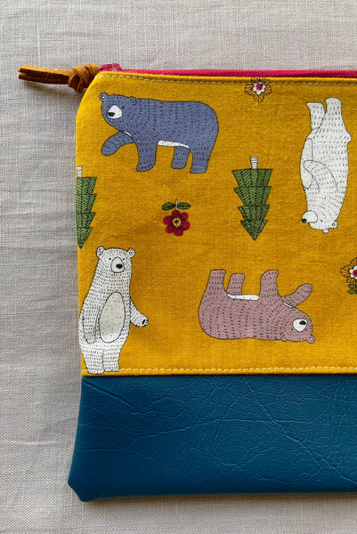 Bear In the Woods Purse/Pencil Case