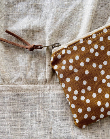 Speckled Mustard Mini Purse