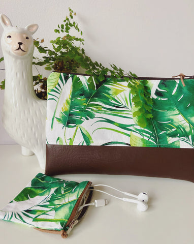 Tropical Palm Pencil Case/Mini Purse