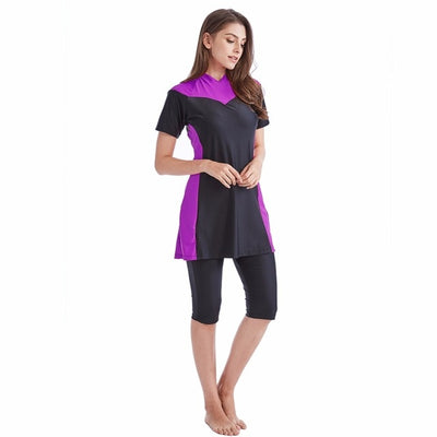 Conservative Short Sleeve Modest Swimsuit