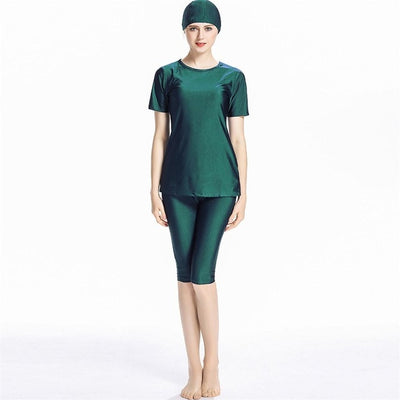 Beautiful Polyester Muslim Bathing Suit With Cap