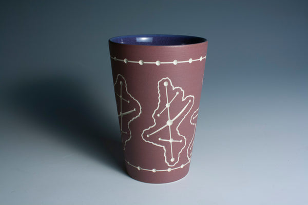 Carved Maroon Tumbler