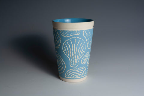 Carved Light Blue Tumbler
