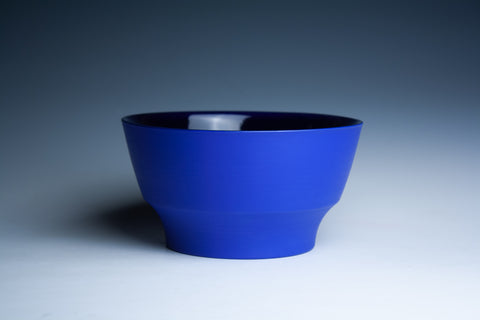 Medium Blue Bowl with Cobalt Blue Glaze