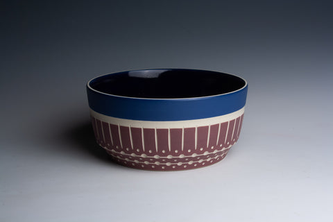 Maroon and Blue Bowl