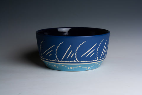 Two-Tone Blue Bowl
