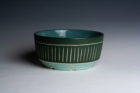 Two-Toned Green Bowl