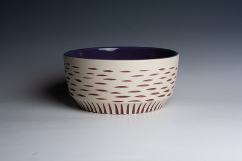 Inlaid Maroon Bowl