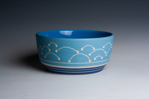 SECOND Carved Blue Bowl