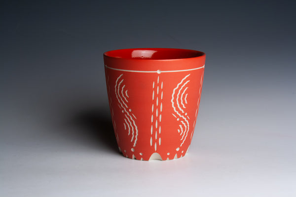 Carved Red Cup