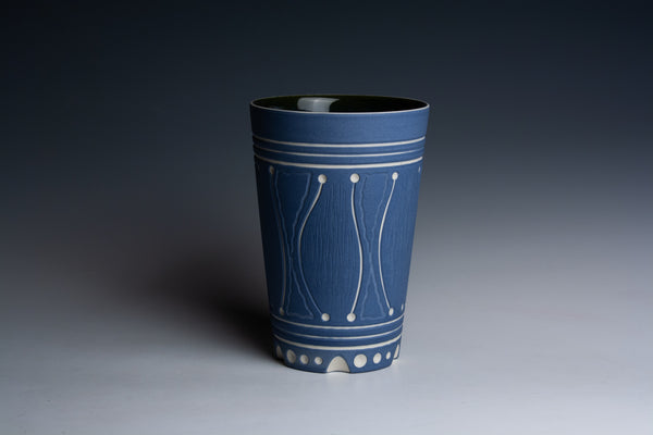Carved Blue Tumbler