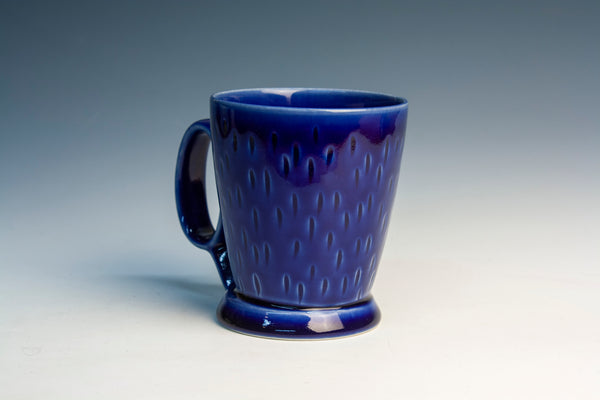 Carved Cobalt Mug