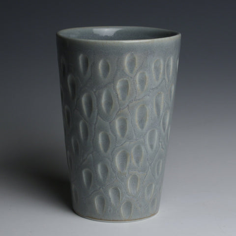 Carved Blue Gray Tumbler