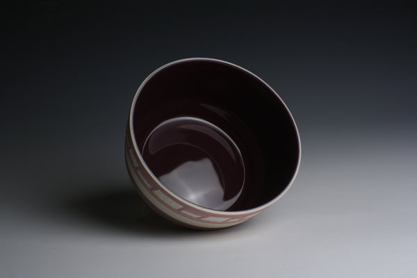 Carved Purple Bowl
